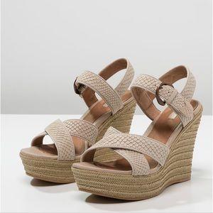 Ugg Jazmine Mar Platform Wedge Sandal Espadrille 7